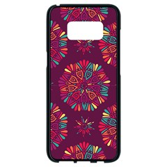 Circle Pattern Samsung Galaxy S8 Black Seamless Case by designsbymallika