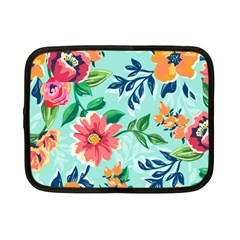 Multi Colour Floral Print Netbook Case (small) by designsbymallika