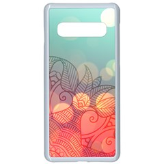 Mandala Pattern Samsung Galaxy S10 Seamless Case(white)
