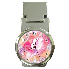 Pink Paint Brush Money Clip Watches
