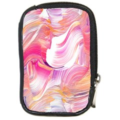 Pink Paint Brush Compact Camera Leather Case
