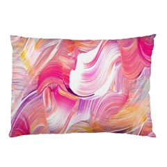 Pink Paint Brush Pillow Case (two Sides)