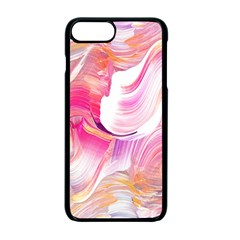 Pink Paint Brush Iphone 7 Plus Seamless Case (black)