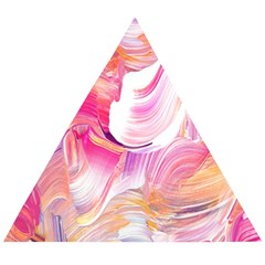 Pink Paint Brush Wooden Puzzle Triangle