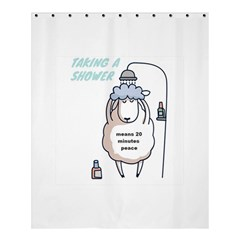 Sheep Showering Shower Curtain 60  X 72  (medium) by myuique