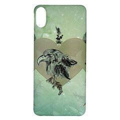 Eagle, Animal, Bird, Feathers, Fantasy, Lineart, Flowers, Blossom, Elegance, Decorative Iphone X/xs Soft Bumper Uv Case by FantasyWorld7