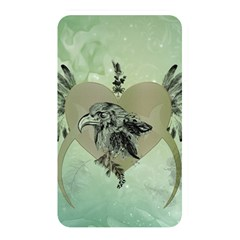 Eagle, Animal, Bird, Feathers, Fantasy, Lineart, Flowers, Blossom, Elegance, Decorative Memory Card Reader (rectangular) by FantasyWorld7