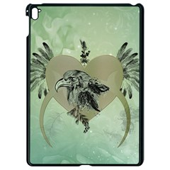 Eagle, Animal, Bird, Feathers, Fantasy, Lineart, Flowers, Blossom, Elegance, Decorative Apple Ipad Pro 9 7   Black Seamless Case by FantasyWorld7