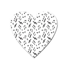 Music Pattern Heart Magnet by designsbymallika