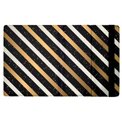 Metallic Stripes Pattern Apple Ipad Pro 12 9   Flip Case by designsbymallika