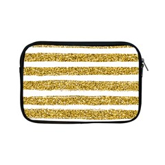 Golden Stripes Apple Ipad Mini Zipper Cases by designsbymallika