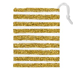 Golden Stripes Drawstring Pouch (3xl)
