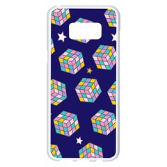 Cube Pattern Samsung Galaxy S8 Plus White Seamless Case by designsbymallika