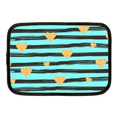 Stripes Heart Pattern Netbook Case (medium) by designsbymallika