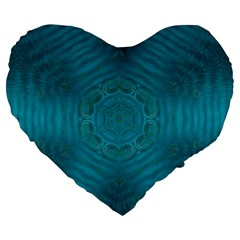 Spiritual Sun Is Raising Over The Peace Of Mind Sea Large 19  Premium Heart Shape Cushions