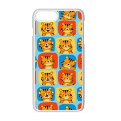 Cute Tiger Pattern Iphone 7 Plus Seamless Case (white)