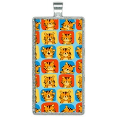 Cute Tiger Pattern Rectangle Necklace