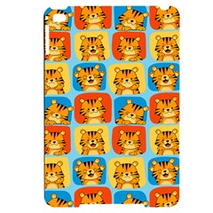 Cute Tiger Pattern Apple Ipad Mini 4 Black Uv Print Case