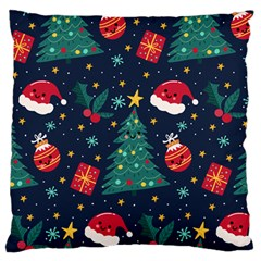 Christmas  Large Flano Cushion Case (one Side)