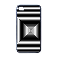 Maze Design Black White Background Iphone 4 Case (black) by HermanTelo