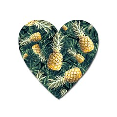 Pattern Ananas Tropical Heart Magnet by kcreatif