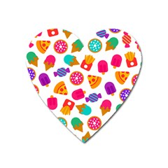 Candies Are Love Heart Magnet by designsbymallika