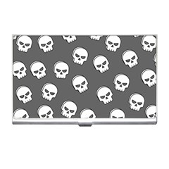 White Skull Pattern Business Card Holder by designsbymallika