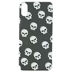 White Skull Pattern Apple Iphone Xs Tpu Uv Case