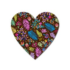 Tropical Print  Heart Magnet by designsbymallika