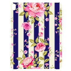 Stripes Floral Print Apple Ipad Pro 12 9   Black Uv Print Case