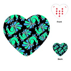 Peacock Pattern Playing Cards Single Design (heart) by designsbymallika