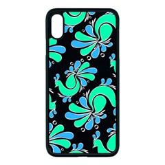 Peacock Pattern Iphone Xs Max Seamless Case (black)