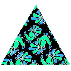 Peacock Pattern Wooden Puzzle Triangle