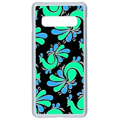 Peacock Pattern Samsung Galaxy S10 Seamless Case(white)