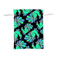 Peacock Pattern Lightweight Drawstring Pouch (m)