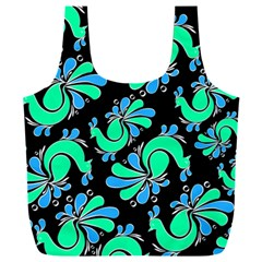 Peacock Pattern Full Print Recycle Bag (xxxl)