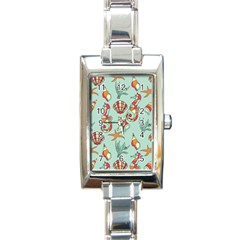 Coral Love Rectangle Italian Charm Watch