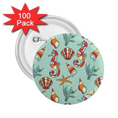 Coral Love 2 25  Buttons (100 Pack)