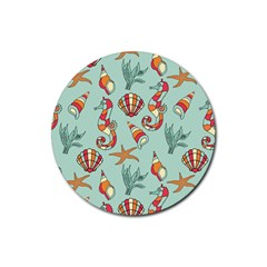Coral Love Rubber Coaster (round)