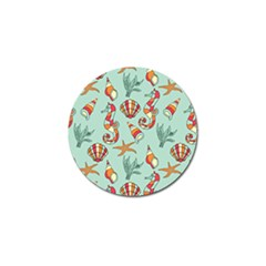 Coral Love Golf Ball Marker