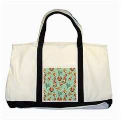Coral Love Two Tone Tote Bag