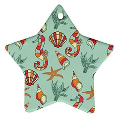 Coral Love Star Ornament (two Sides)