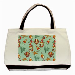 Coral Love Basic Tote Bag (two Sides)