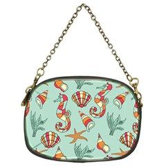 Coral Love Chain Purse (two Sides)