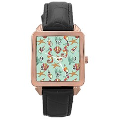 Coral Love Rose Gold Leather Watch