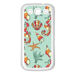 Coral Love Samsung Galaxy S3 Back Case (white)