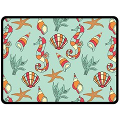 Coral Love Double Sided Fleece Blanket (large)