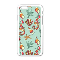 Coral Love Iphone 6/6s White Enamel Case
