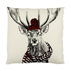 Xmas Deer Cushion Case (two Sided)  by xmasyancow