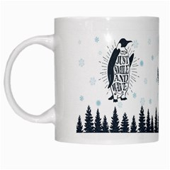 Snow Xmas Penguin White Coffee Mug by xmasyancow